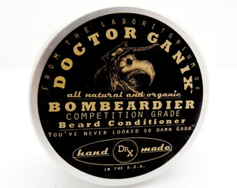 Doctor Ganix Beard Balm - Bombeardier  - All Natural and Organic Beard Conditioner, Tamer - VEGAN friendly
