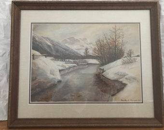 Dorothy C. Barrett — Original Watercolor — Landscape