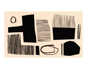 Rigoletto 1. Open Edition Print. Abstract Print.