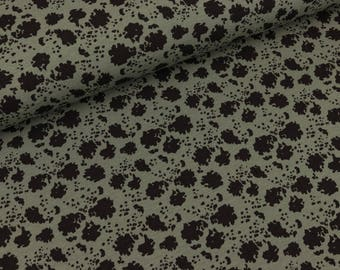 Cotton jersey Paint Splash black-khaki (10.50 EUR/meter)
