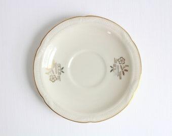 Vintage Ring Dish, Cream Ring Dish, Floral Ring Dish, Flower Ring Dish, Ring Dish, Jewelry Dish, Trinket Dish, Cream & Gold Ring Dish, Gold