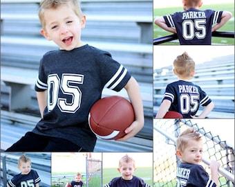 Football birthday shirt, football party, sports birthday shirt, youth football jersey, toddler football jersey, boys birthday party