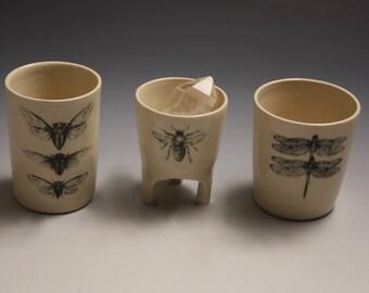 Ceramic Honey Bee Jewelry Cup