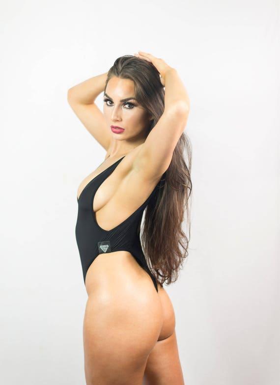 thong bodysuit sexy lingerie womens bodysuit high-cut legs