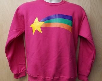Mabel Pines Youth Sweatshirt Halloween Costume Cosplay Rainbow Shooting Star Sweater Jumper Child Sizes Kids TV Show Girls Gift Idea
