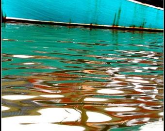 Photography print : Turquoise & black seascape, France photography, seascape photography, nautical photography, gift for him, nautical print