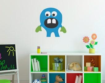 Monster Wall Decal - Monster Wall Art - Children Wall Decals - Printed Wall Sticker - 2