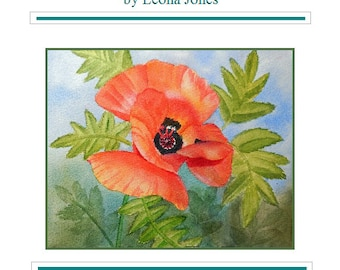 "Tutorial Painting of ""Poppy"" How to Paint Watercolor, Instant Download"
