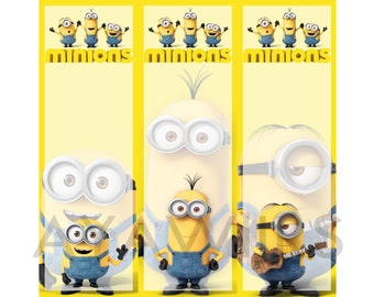 "Digital Download, Printable Bookmarks ""Minion"""