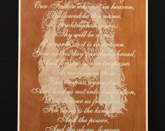 The Lords prayer w/Christ plaque