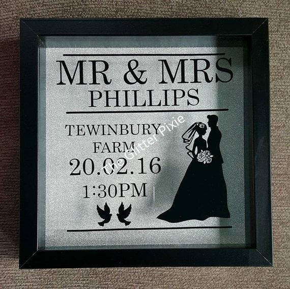 Wedding Box Frame wedding gift gift for newlyweds wedding