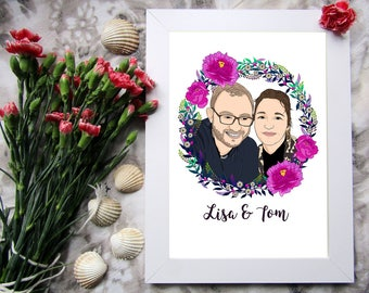 Custom Portrait Art, Family Portrait, Custom Family Portrait, Family Illustration, Custom Keepsake, Family Art, Digital Files