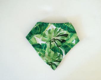 Bandanna Bib- Palm Leaf