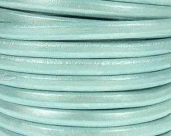 "PER 8"" Metallic Turquoise Licorice Leather for Licorice Leather Bracelets"