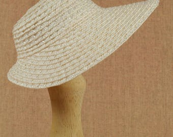 """Premium straw doll hat with broad brim, size L, DIY bonnet for BJD - SD and other dolls, for head circumference 8-9.5"""""""
