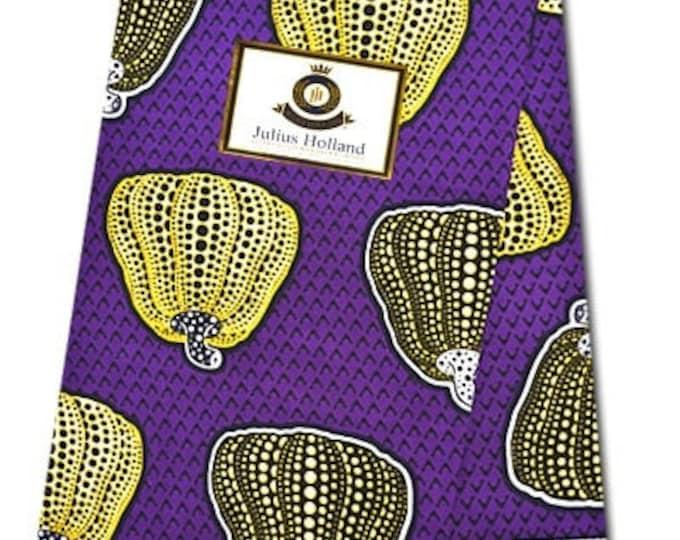 6 Yards African Fabrics Julius Holland Dutch Block Wax Print, Fabrics For  Craft /Sewing and Dress Making Kitenge/Pagnes/Ankara /Chitenge