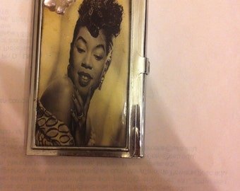 Retro Sarah Vaughan Butterfly Business Card Holder Credit Card Case