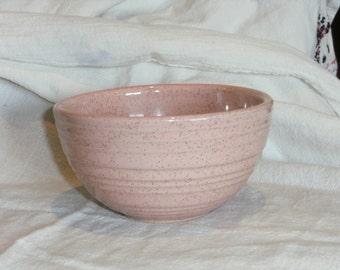 Vintage Pink Spatter McCoy Bowl