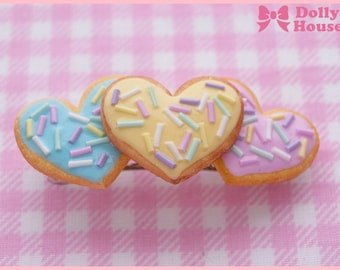 Triple Heart Cookies Hair Clip by Dolly House