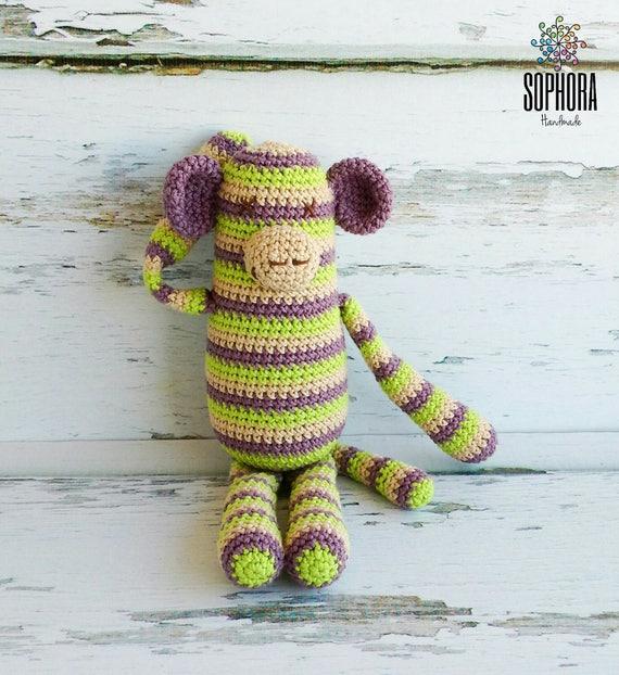 Patron de crochet/Amigurumi Pattern/Amigurumi Monkey/Mono a