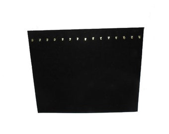 """Black Necklace Chain 15 Hook Display Board With Easel 15x12"""""""