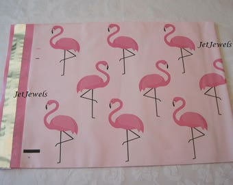 100 Poly Mailers, Pink Mailers, Shipping Envelopes, Large Mailers, Shipping Mail Bags, Plastic Flat Mailers, Pink Flamingos 10x13