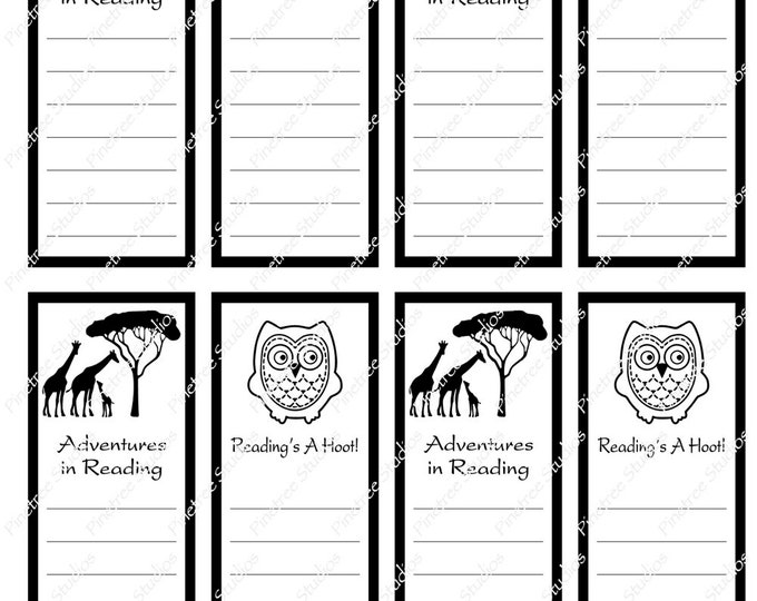 "Reading List Bookmarks ~ 2 Different Bookmarks (1.875"" x 5"") ~ Digital Download ~ Printable / Watercolor / Book Clubs / Journals"