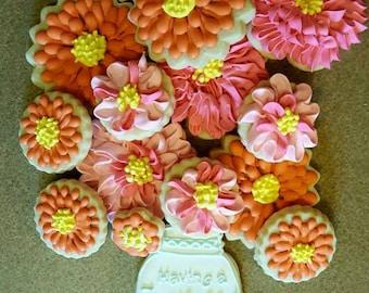 Mason Jar Decorated Sugar Cookies