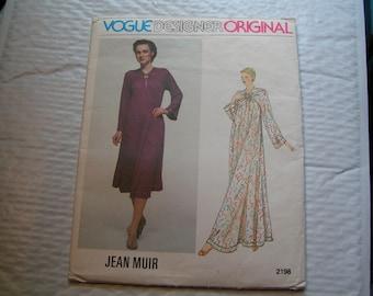 Vintage Vogue Designer Original 2198 Jean Muir Miss Dress