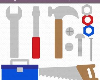 Tools Digital Art Set Clipart INSTANT DOWNLOAD Tool Clipart Hammer Clipart