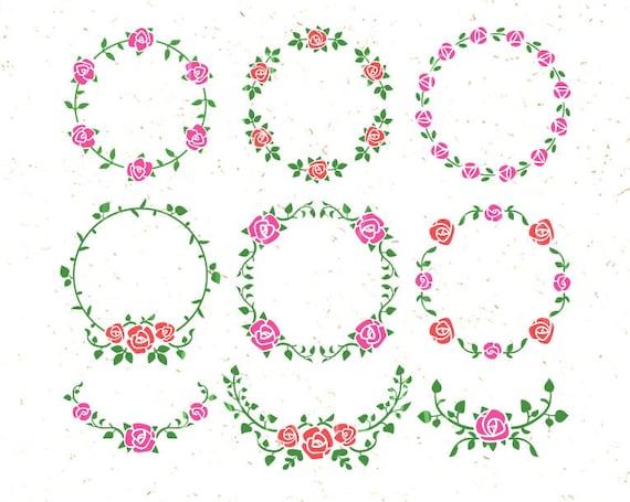 Floral Svg Floral Ornaments Svg Floral Clipart Svg Rose Svg