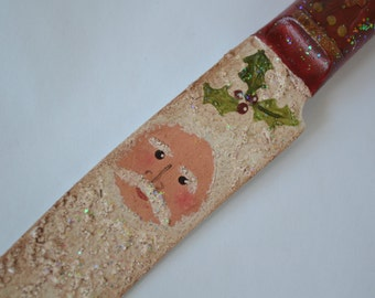 Santa Knife Ornament/ Handmade Santas/ Handmade Ornaments