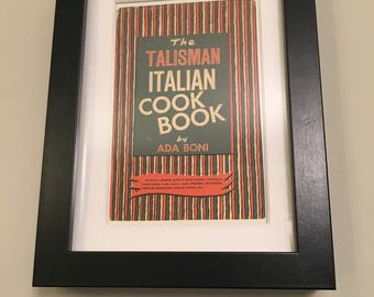Classic Cookery Book cover print- framed - The Italian Cook Book