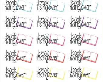 Book Hangover    Planner Stickers