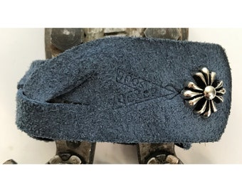 "Vexed Soul ""Braided Beotch"" Premium Quality Top Grain Navy Blue Leather Braid Bracelet, 8.5"" …"