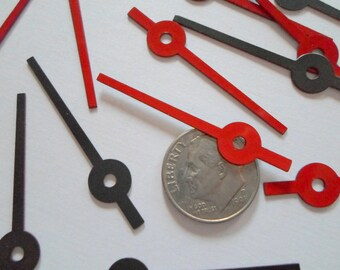 10 Vintage Enamel Watch Hands Charms Pendants