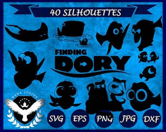 40 Finding Dory Silhouette | Finding Dory SVG | Finding Dory Vector | Finding Dory Clipart | Dory Printable | Dory Decal | Dory Cut File