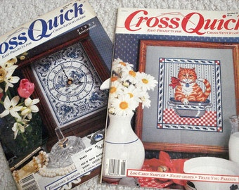 Cross Quick Magazines - Two Issues of Easy Projects for Cross Stitch Lovers