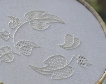 Pulled Thread Whitework Embroidery Kit