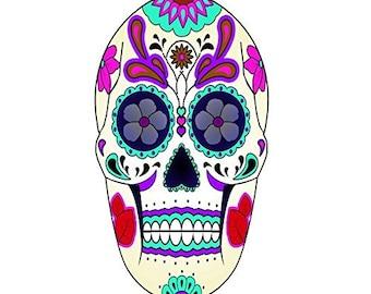 VWAQ Dia De Los Muertos Decals Sugar Skull Mask Wall Decal Murals Spirits Souls Day of the Dead Wall Art Decor Stickers Decal VWAQ-GJG#5
