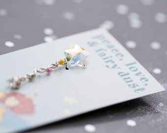 Handmade miniature fairy wand/wedding favor/baby shower favor/bridal shower favor/girls birthday party favor/share the magic/fairy wands