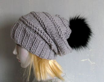 Crochet Mens Slouchy Beanie Mens Winter Hat  Beanie Hat Skater Hat Baggy Beanie Slouchy Mens Hat Oversized Cap Chunky Hat