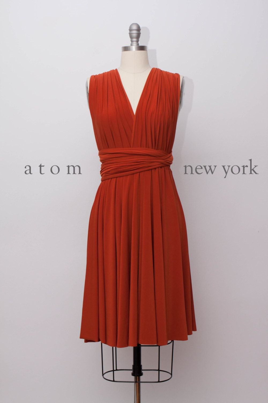 Rust burnt orange short infinity dress convertible formal zoom ombrellifo Gallery