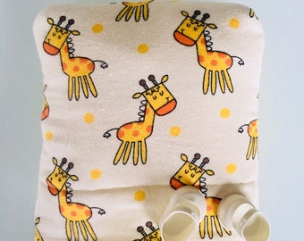 Baby Doll Bunting Baby Bag Pillow Blanket in One for Dolls Original Design Giraffes