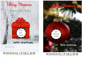 Rodan+Fields Christmas Gift Certificate Template
