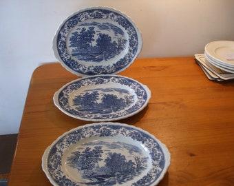 Royal Tudor Ware Olde England 3 x oval meat/serving plates
