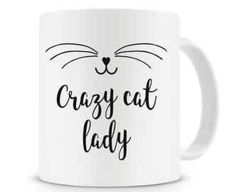 Crazy Cat Lady Mug, Cat Lover, Cat Gift, Cat Mug, Coffee Mug, Cat Gifts, Cat Lover Gifts, Gift For Her, Cat Mugs