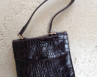 Dark Brown Mulberry Structured Bag