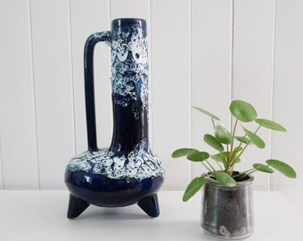 Blue Fat Lava vase