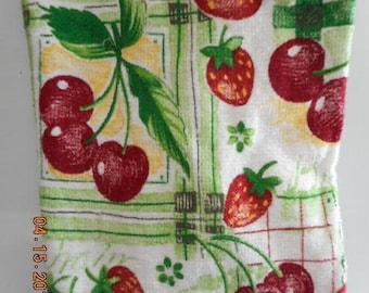 MadieBs Strawberries and Cherries Plastic Bag Holder Dispenser